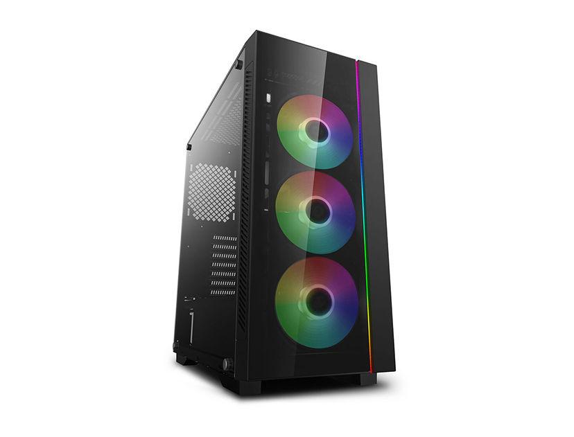 CASE DEEP COOL MATREXX 55 V3 ( DP-ATX-MATREXX55V3-AR-3F ) S/ FUENTE   NEGRO   1 PANEL VIDRIO   LED- RGB