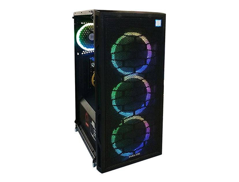 CASE HALION KRAKEN ( KRAKEN ) 500W | 1 PANEL VIDRIO | LED -RGB