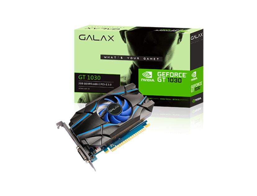 TARJ. VIDEO GALAX GEFORCE GT 1030 2GB DDR5 ( 30NPH4HVQ4ST ) 64 BIT