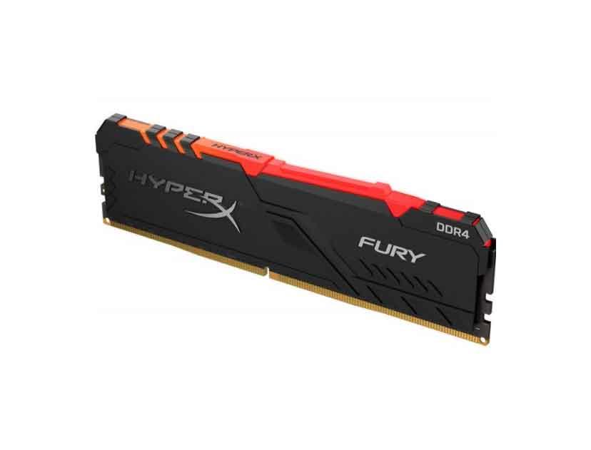 MEM. RAM HYPERX FURY DDR4 8GB/3000 ( HX430C15FB3A/8 ) NEGRO | LED- RGB