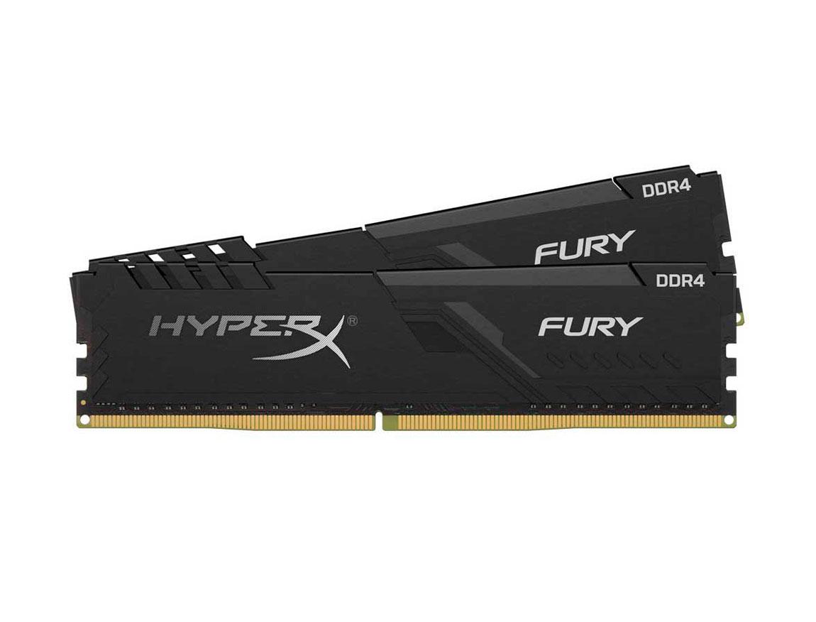 MEM. RAM HYPERX FURY DDR4 16GB/2666 ( HX426C16FB4/16 ) NEGRO