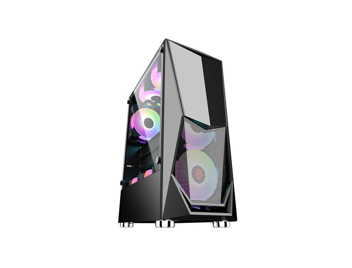 CASE HALION SPARTA 846 ( SPARTA 846 ) 450W | 1 PANEL VIDRIO | LED -RGB