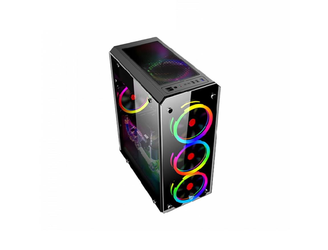 CASE HALION SPARTA 842 ( SPARTA 842 ) 450W | 1 PANEL VIDRIO | LED -RGB