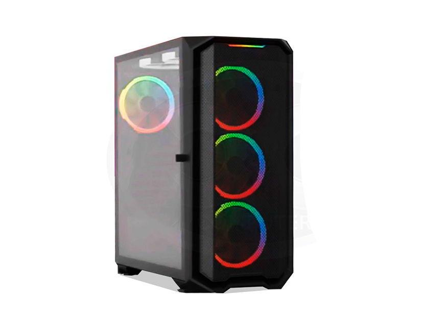 CASE HALION IRONMAN ( IRONMAN ) 500W   1 PANEL VIDRIO   LED -RGB