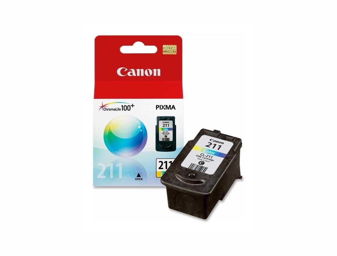 CARTUCHO CANON  211 ( 2976B017AA ) COLOR - IP2700 / IP2702 / MP240 / MP260 / MP280 +