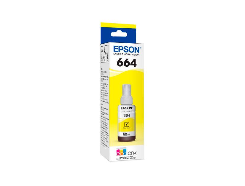 TINTA EPSON T664420 AMARILLO ( C13T66442A ) L210 / L355 / L555 +