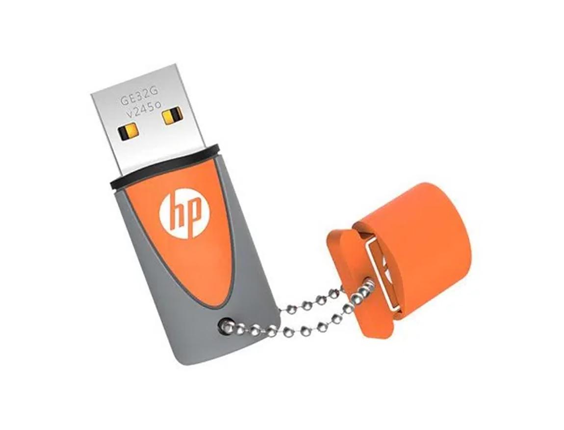 MEM. USB HP V245O 32GB ( HPFD245O-32 ) NARANJA C/ GRIS