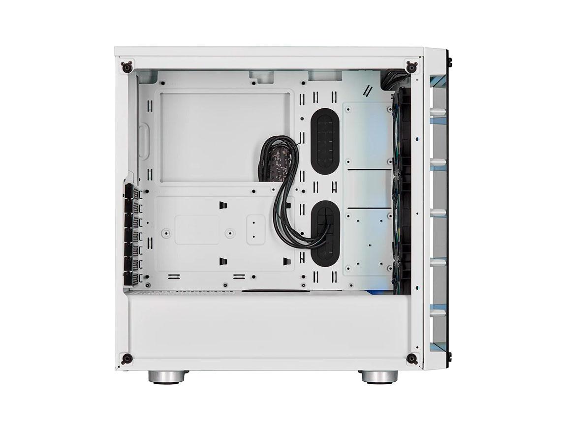 CASE CORSAIR ICUE CRYSTAL 465X RGB ( CC-9011189-WW ) S/ FUENTE | BLANCO | 2 PANE
