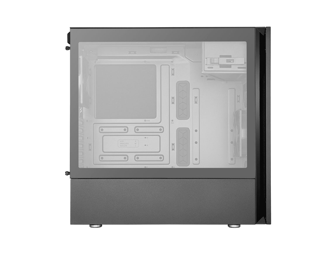 CASE COOLER MASTER SILENCIO S600 ( MCS-S600-KG5N-S00 ) S/ FUENTE | NEGRO | 1 PANEL VIDRIO