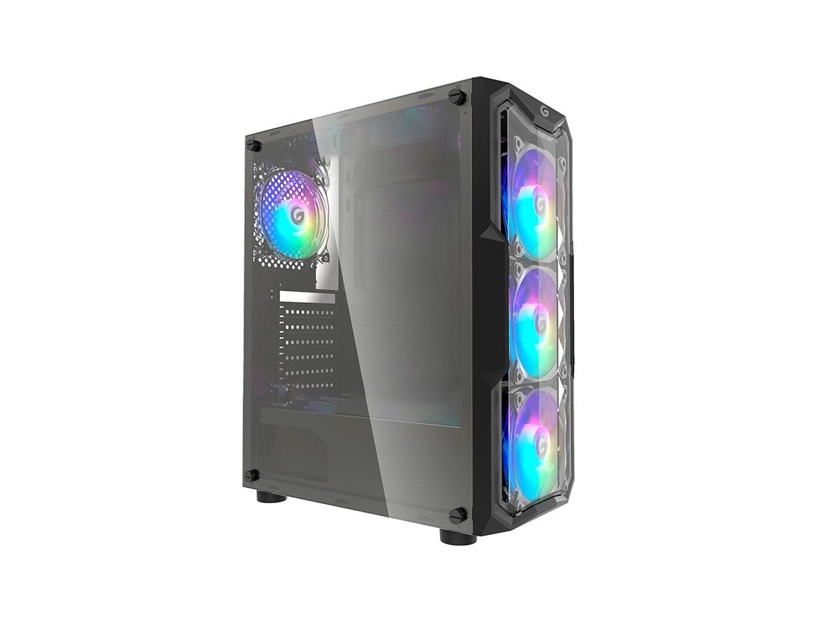 CASE GAMBYTE ZEKTOR ( ZEKTOR ) 650W | NEGRO | 1 PANEL VIDRIO | LED - ARGB