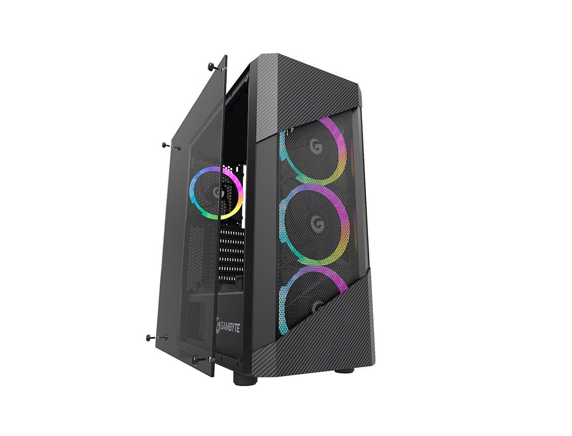 CASE GAMBYTE ZYBOT ( ZYBOT ) 650W | NEGRO | 1 PANEL VIDRIO | LED - ARGB