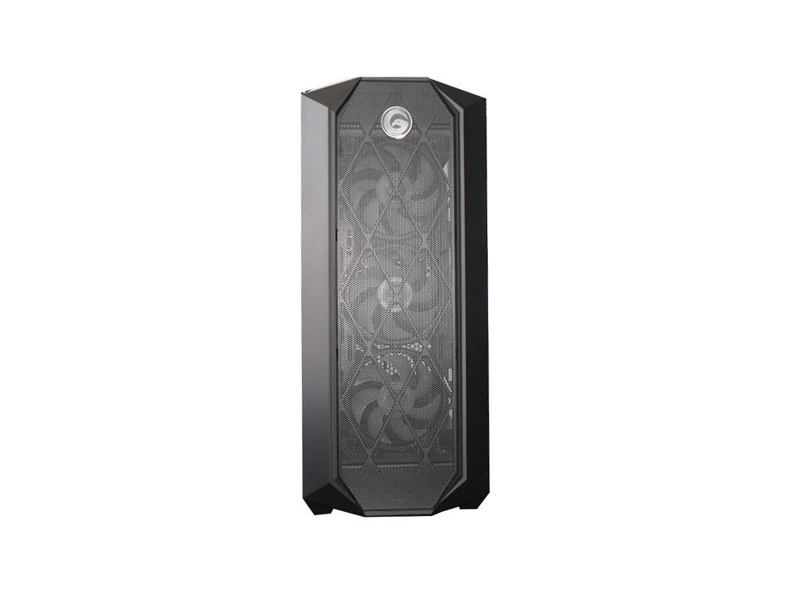 CASE GAMBYTE SHADOW BLADE ( SHADOW BLADE ) S/ FUENTE   NEGRO   1 PANEL VIDRIO   LED - ARGB