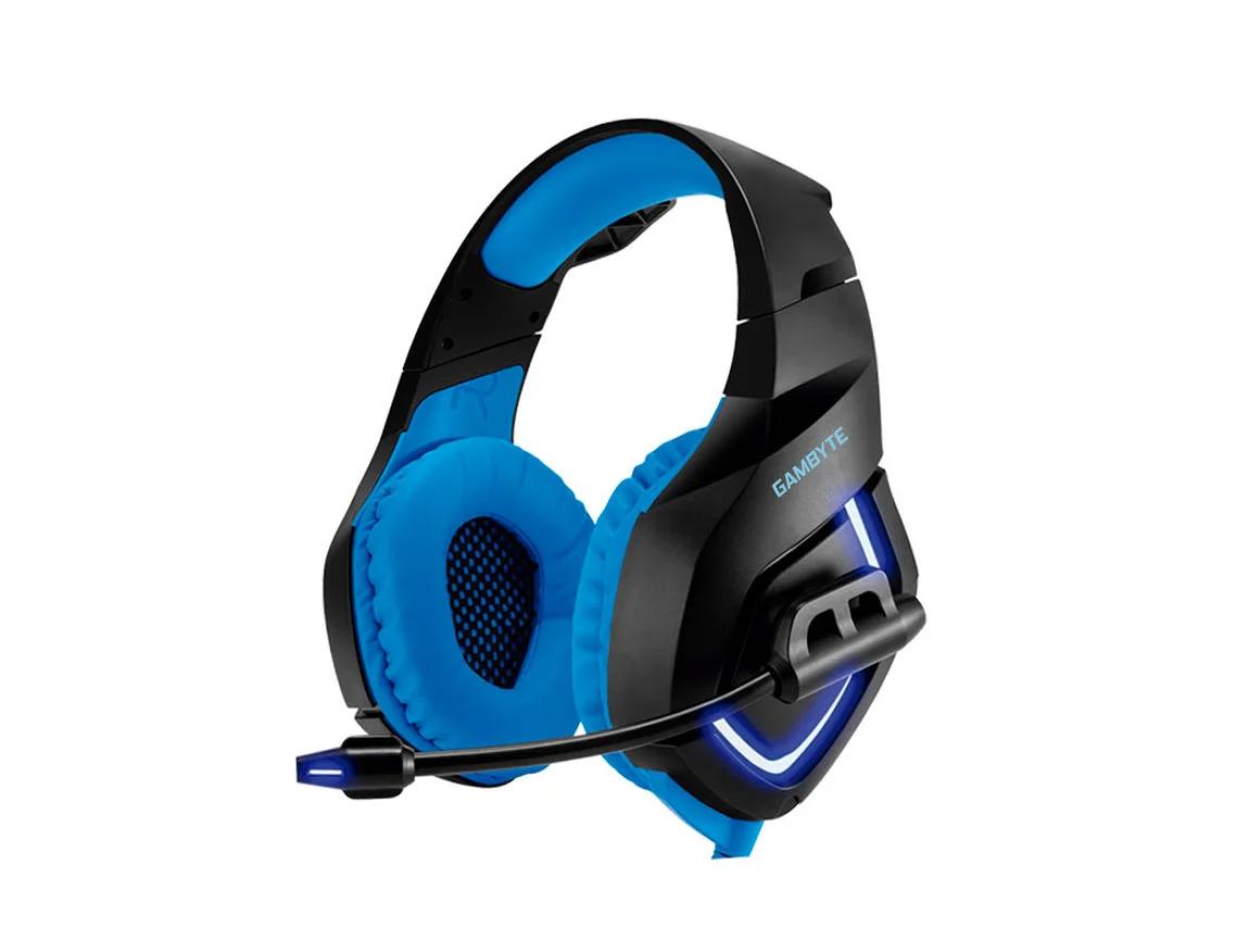 AURICULAR GAMBYTE BLUE G ( GI-BLUEG ) GAMING | NEGRO C/ AZUL | LED AZUL