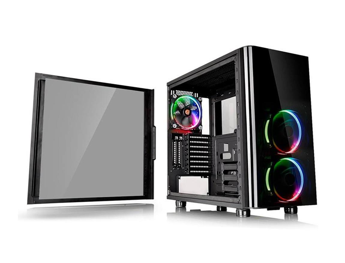 CASE THERMALTAKE VIEW 31 ( CA1H800M1WN01 ) S/ FUENTE |  NEGRO | 2 PANEL VIDRIO | LED- RGB