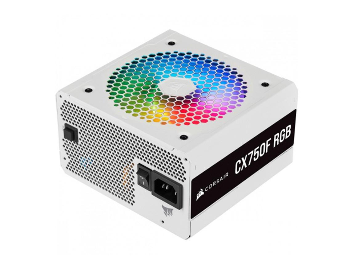 FUENTE CORSAIR CX750F RGB WHITE ( CP-9020227-NA ) 750W   BRONZE   MODULAR   LED - RGB