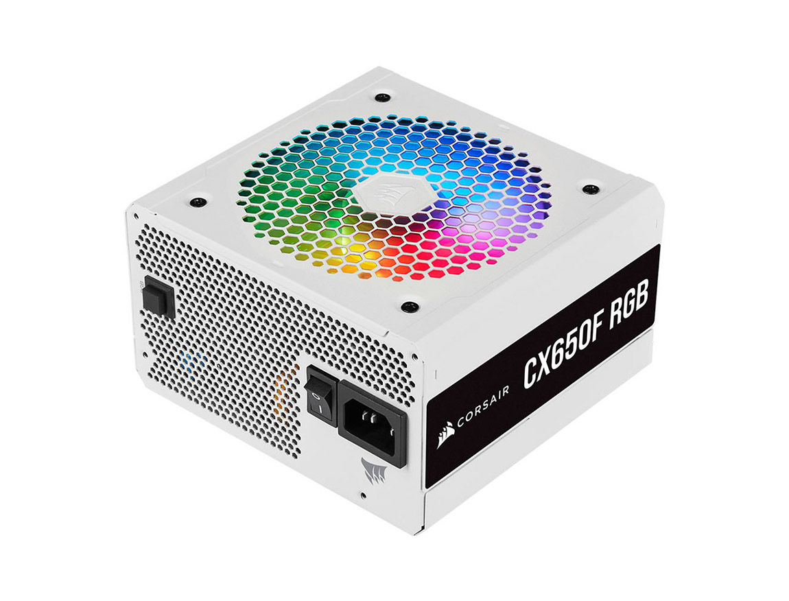 FUENTE CORSAIR CX650F RGB WHITE ( CP-9020226-NA ) 650W | BRONZE | MODULAR | LED - RGB