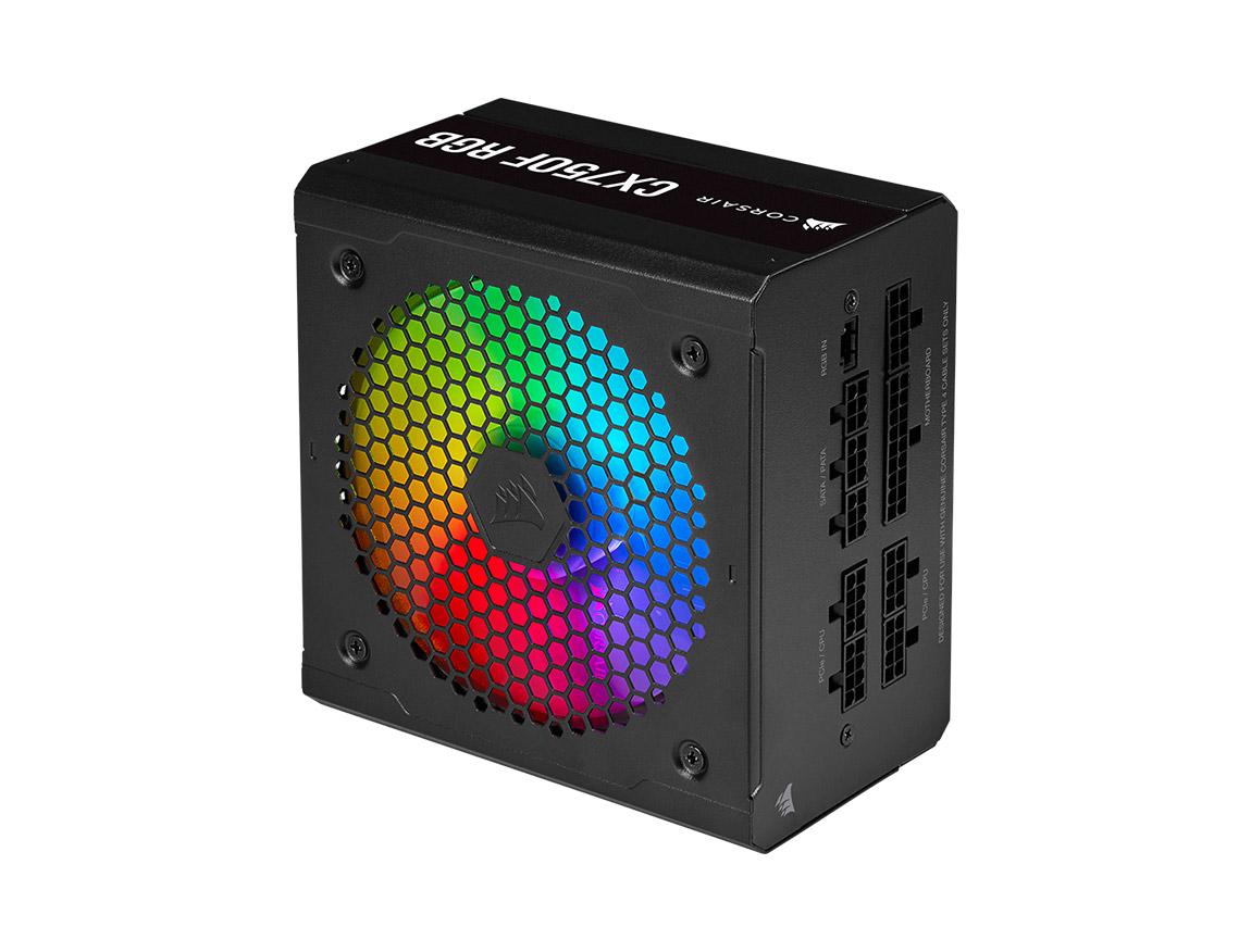 FUENTE CORSAIR CX750F RGB ( CP-9020218-NA ) 750W | BRONZE | MODULAR | LED - RGB
