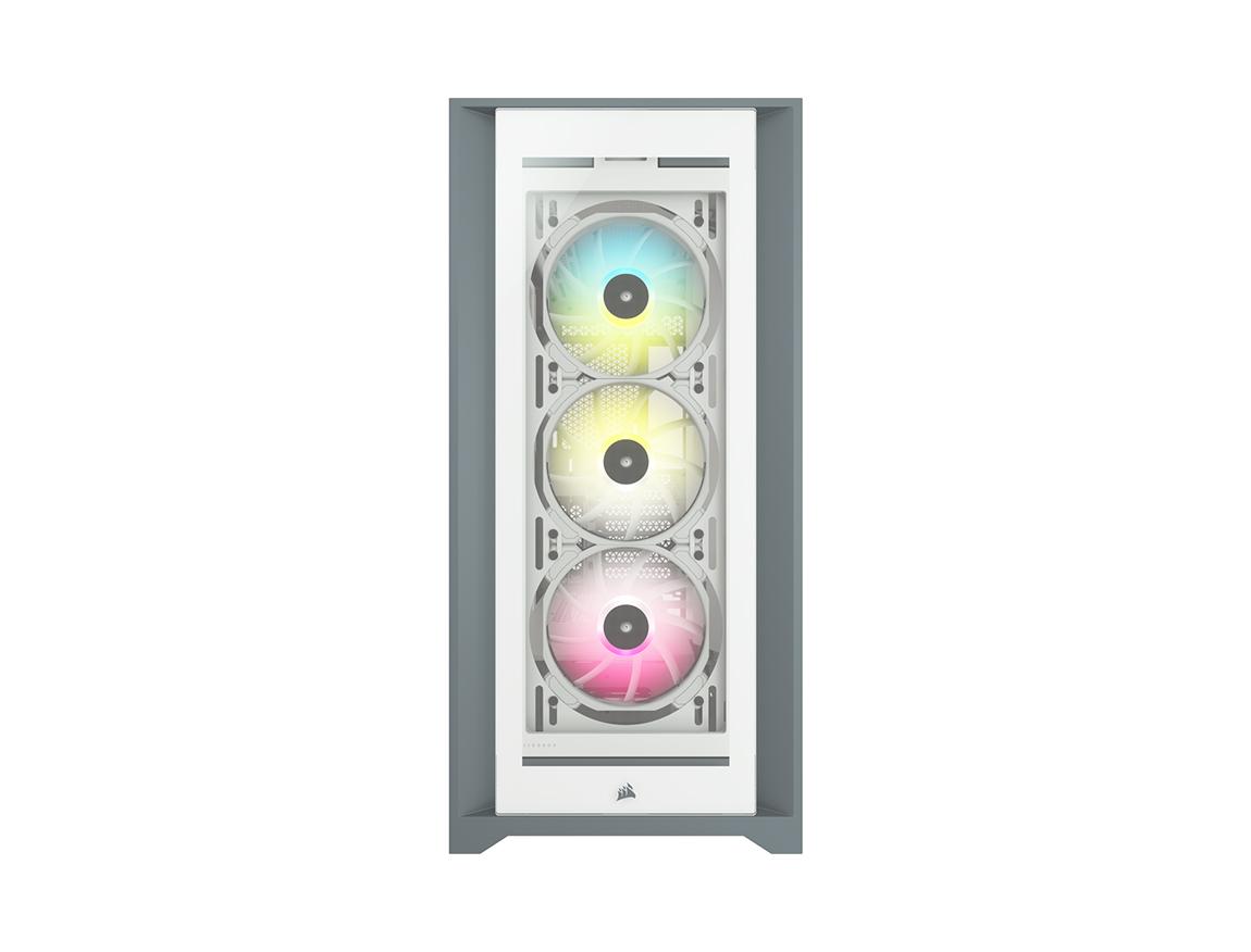 CASE CORSAIR ICUE 5000X RGB ( CC-9011213-WW ) S/ FUENTE | BLANCO | 1 PANEL VIDRIO | LED - RGB
