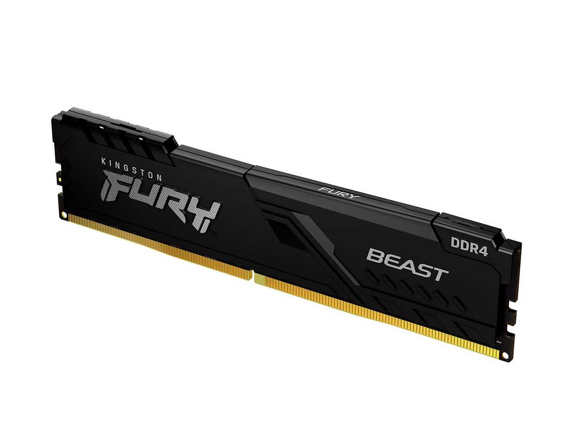 MEM. RAM KINGSTON FURY BEAST DDR4 8GB/3600 ( KF436C17BB/8 ) NEGRO