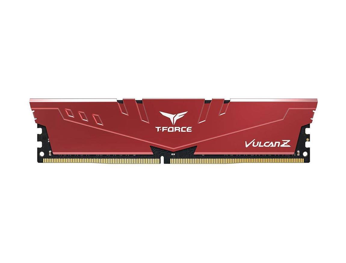 MEM. RAM TEAMGROUP T-FORCE VULCAN Z DDR4 8GB/3200 ( TLZRD48G3200HC16CBK ) ROJO