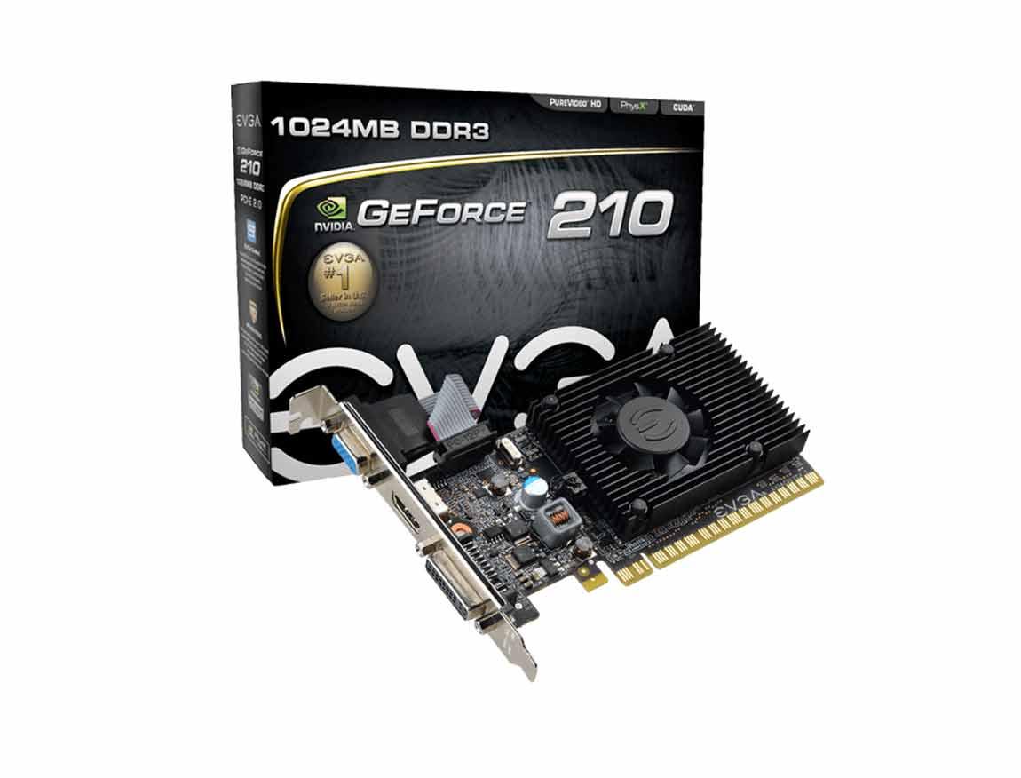 TARJ. VIDEO EVGA GEFORCE 210 1GB DDR3 ( 01G-P3-1312-LR ) 64 BIT