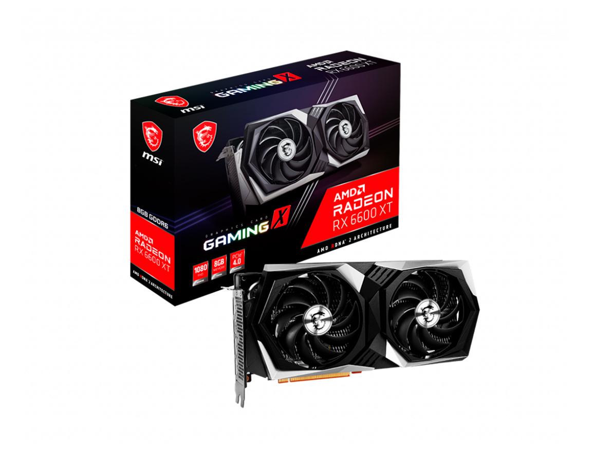 TARJ. VIDEO MSI RADEON RX 6600 XT 8GB GDDR6 ( RX 6600 XT GAMING X 8GB ) GAMING X | 128 BIT
