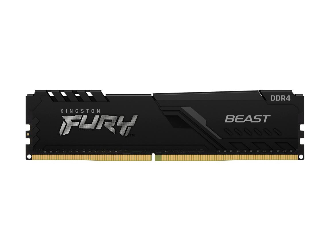 MEM. RAM HYPERX FURY DDR4 8GB/3000 ( KF430C15BB/8 ) NEGRO