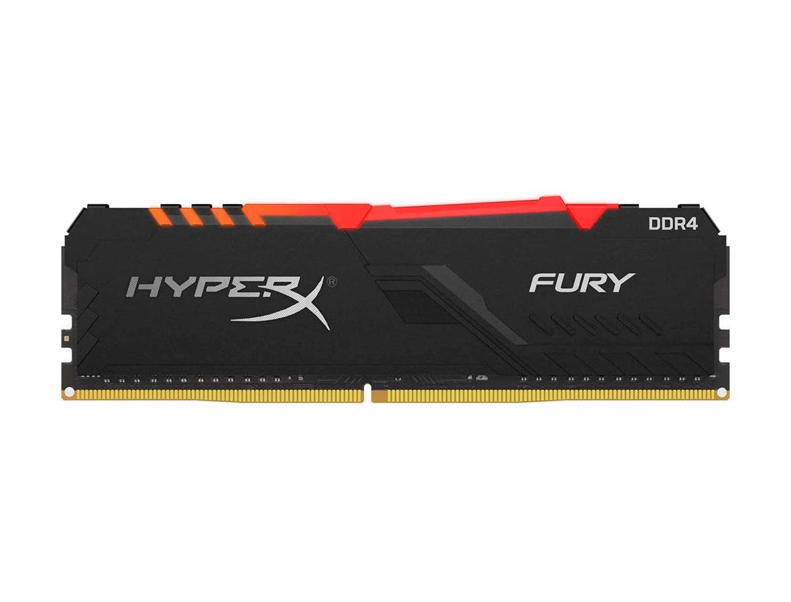 MEM. RAM HYPERX FURY 8GB/3600 ( HX436C17FB3A/8 ) NEGRO | LED - RGB