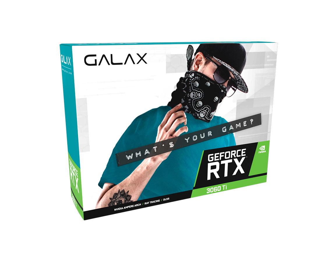 TARJ. VIDEO GALAX GEFORCE RTX 3060TI 8GB GDDR6 (1-CLICK OC) LHR ( 36ISL6MD1VQW ) 256BIT