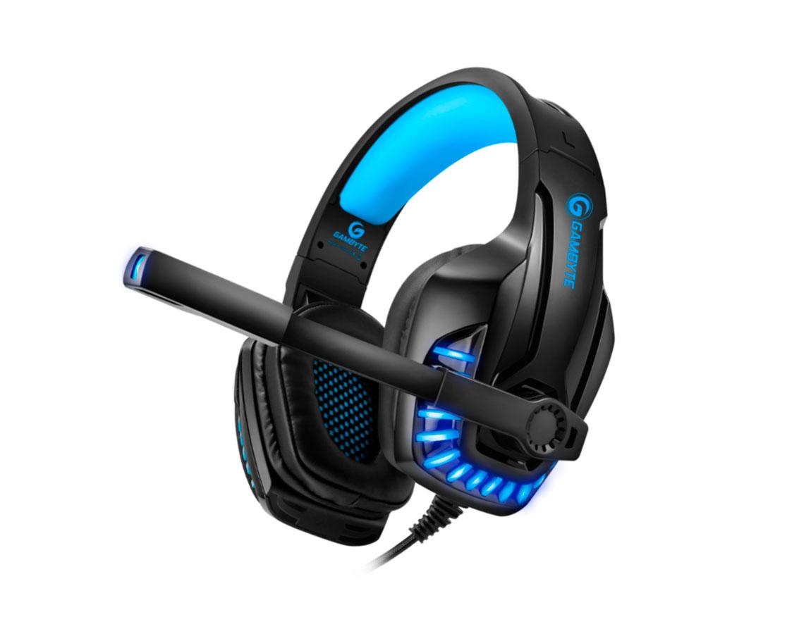 AURICULAR GAMBYTE BLUE G PRO ( GI-BLUEG-KT ) GAMING | NEGRO C/ AZUL | LED - AZUL