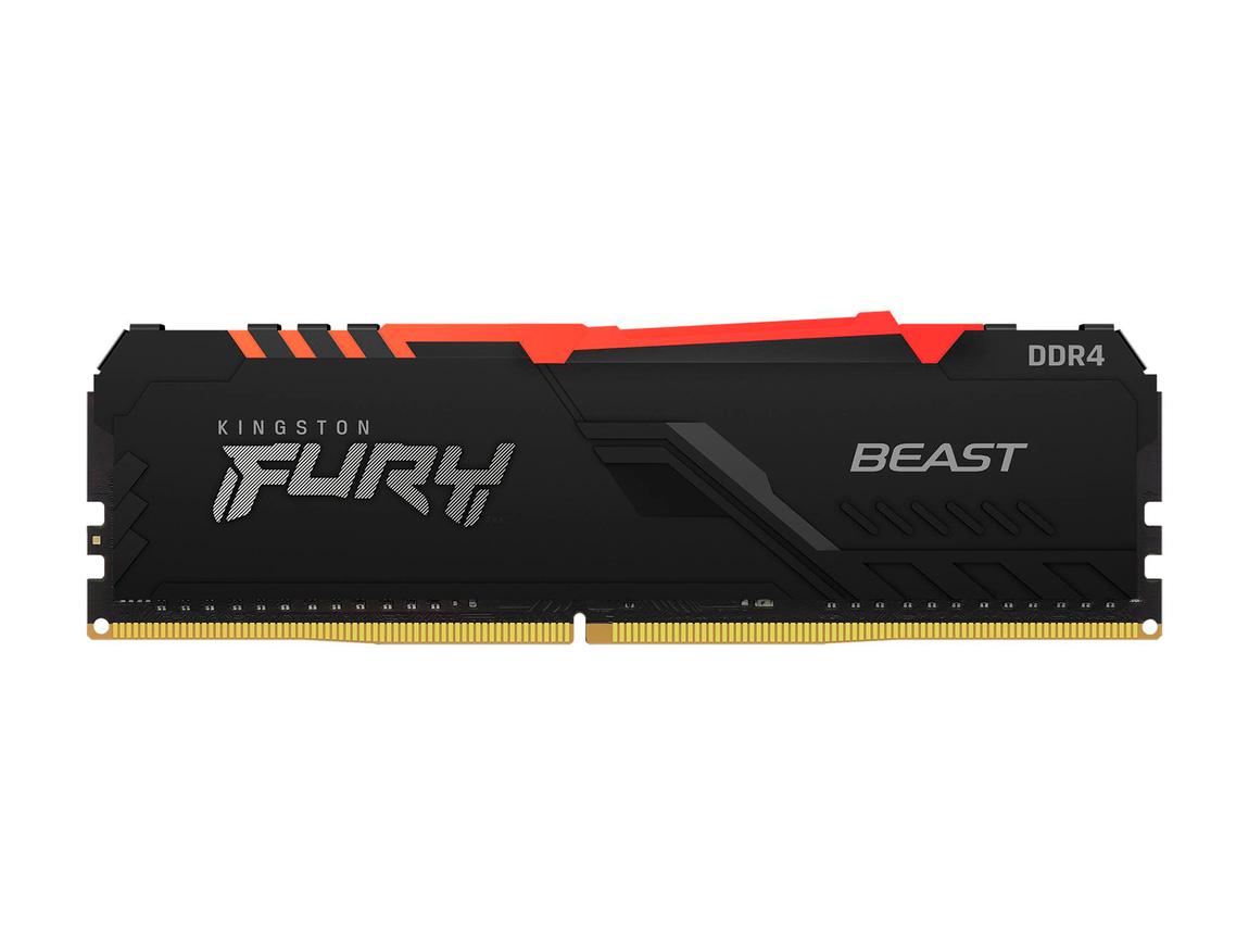 MEM. RAM KINGSTON FURY BEAST DDR4 8GB/3600 ( KF436C17BBA/8 ) NEGRO | LED - RGB