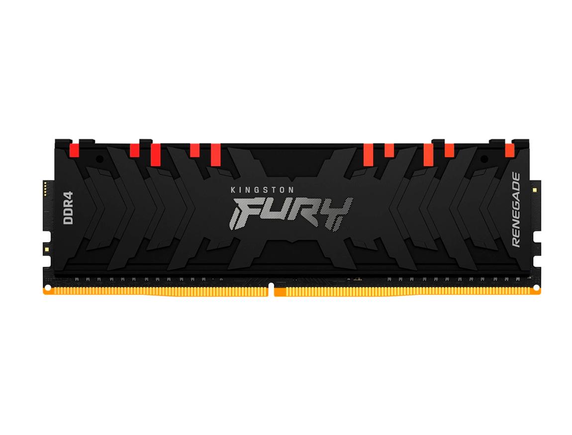 MEM. RAM KINGSTON FURY RENEGADE DDR4 8GB/3200 ( KF432C16RBA/8 ) NEGRO | LED - RGB