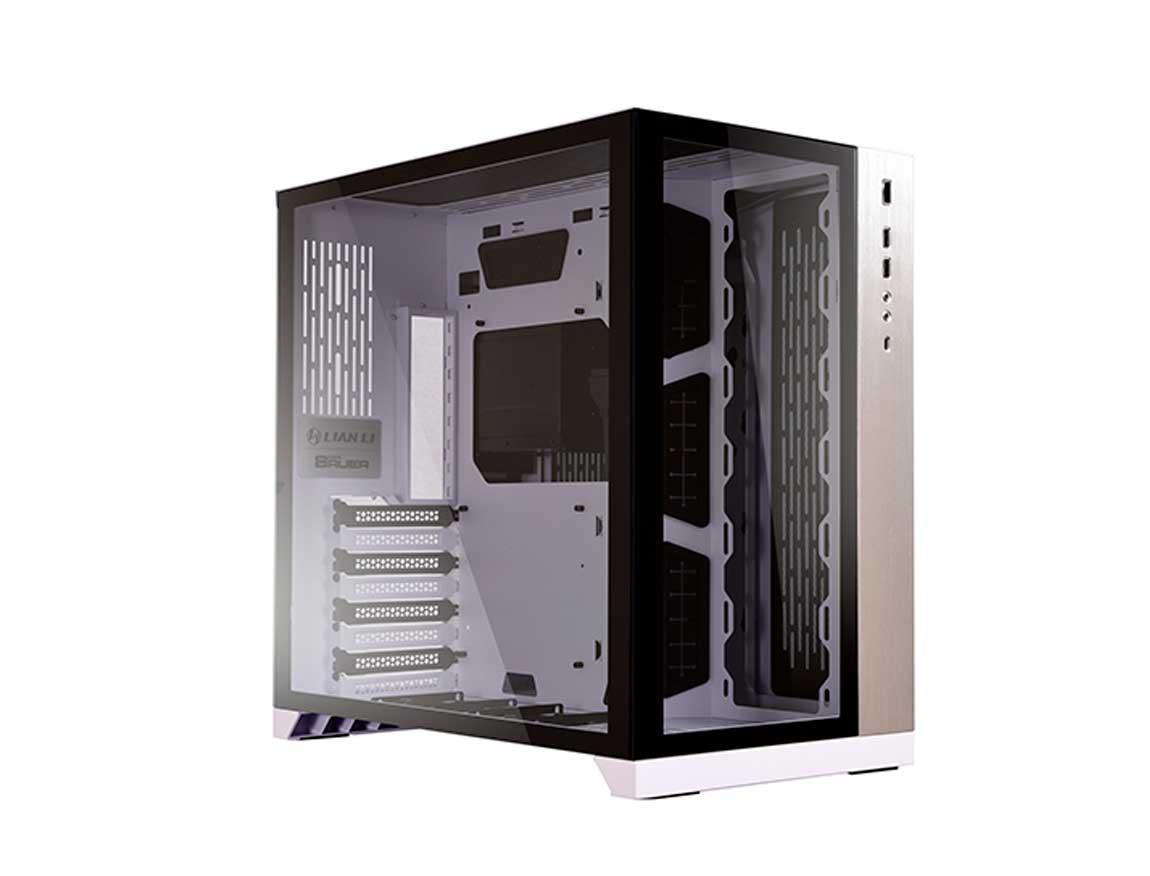 CASE LIAN LI O11 DYNAMIC WHITE ( G99.011DW.00 ) S/ FUENTE | BLANCO | 2 PANEL VID