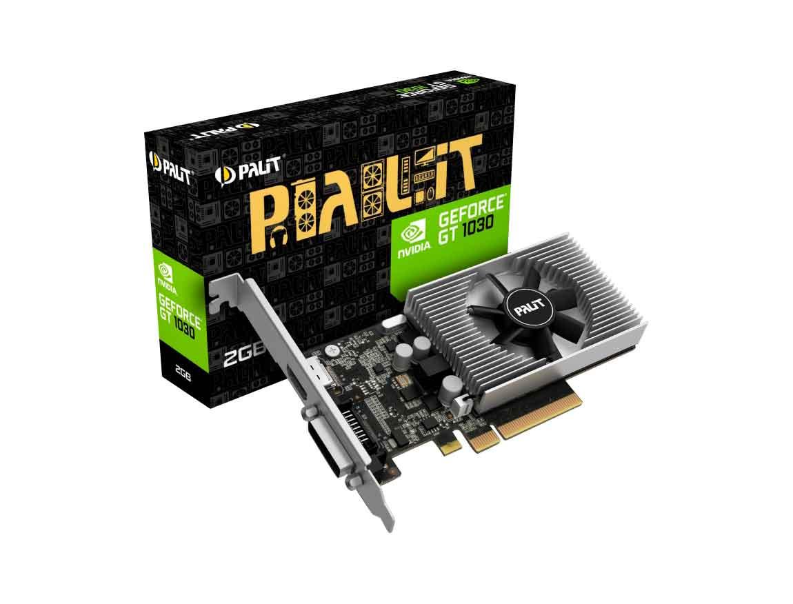 TARJ. VIDEO PALIT GEFORCE GT 1030 2GB DDR4 ( NEC103000646-1082F ) 64 BIT