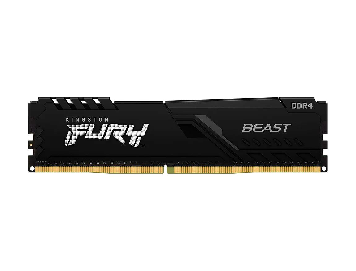 MEM. RAM KINGSTON FURY BEAST DDR4 16GB/3200 ( KF432C16BB/16 ) NEGRO