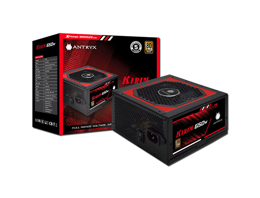 FUENTE ANTRYX KIRIN 650W ( AP-KB650 ) 650W | BRONZE