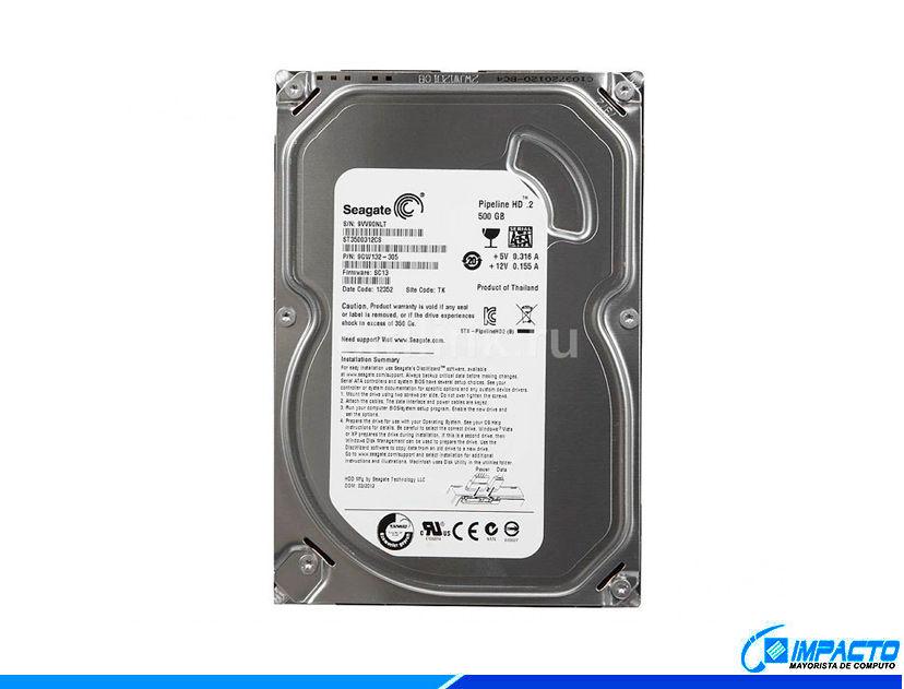HDD SEAGATE 500GB ( ST3500312CS ) PIPELINE | 8MB | 5900RPM