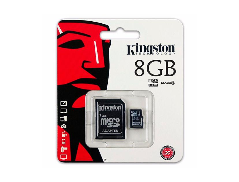 MEM. MICRO SD KINGSTON 8GB ( SDC4/8GB ) C/ CARD ADAPTADOR