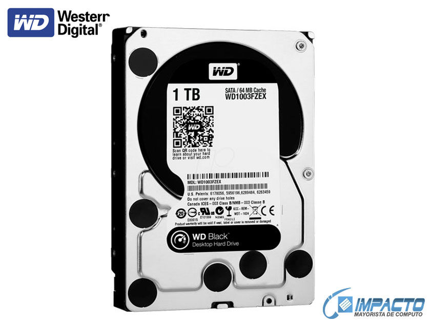 HDD  WESTER DIGITAL 1TB ( WD1003FZEX ) NEGRO | 64MB | 7200RPM