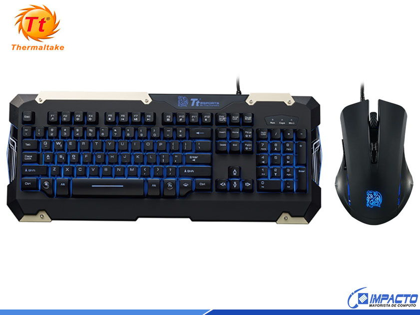 COMBO THERMALTAKE COMMANDER ( KB-CMC-PLBLSP-01 ) TECLADO+MOUSE | LED- AZUL