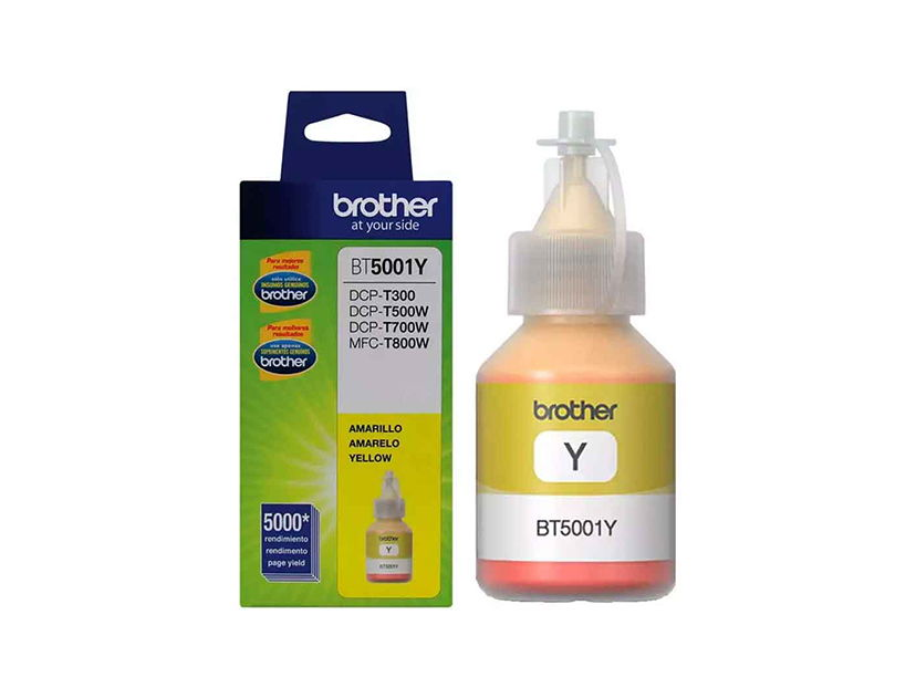 TINTA BROTHER  5001Y AMARILLO ( BT5001Y ) T300 / T500W / T800W +