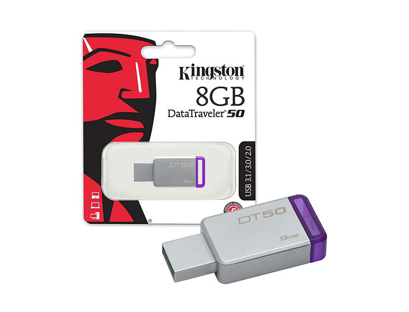 MEM. USB KINGSTON 8GB ( DT50/8GB ) DATATRAVELER 50