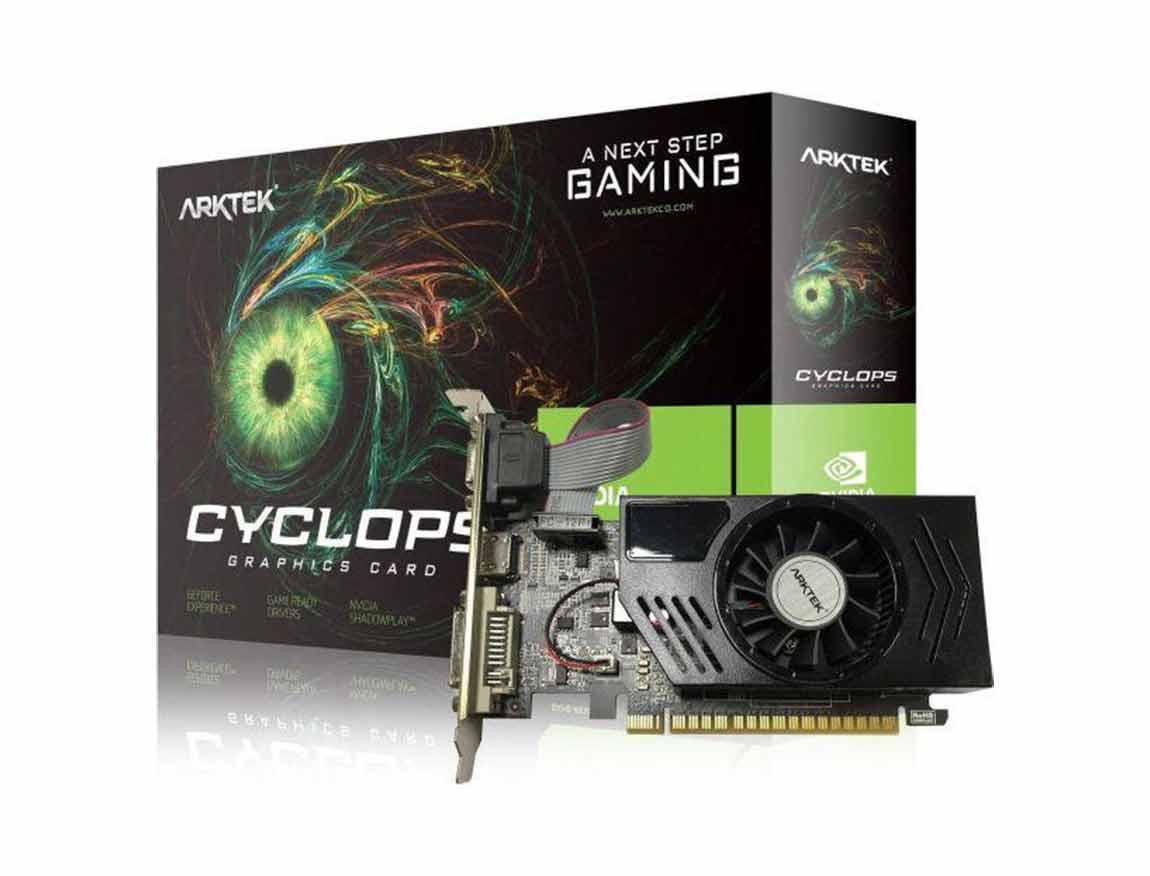 TARJ. VIDEO ARKTEK CYCLOPS GEFORCE GT 730 4GB DDR3 ( AKN730D3S4GL1 ) 128 BIT
