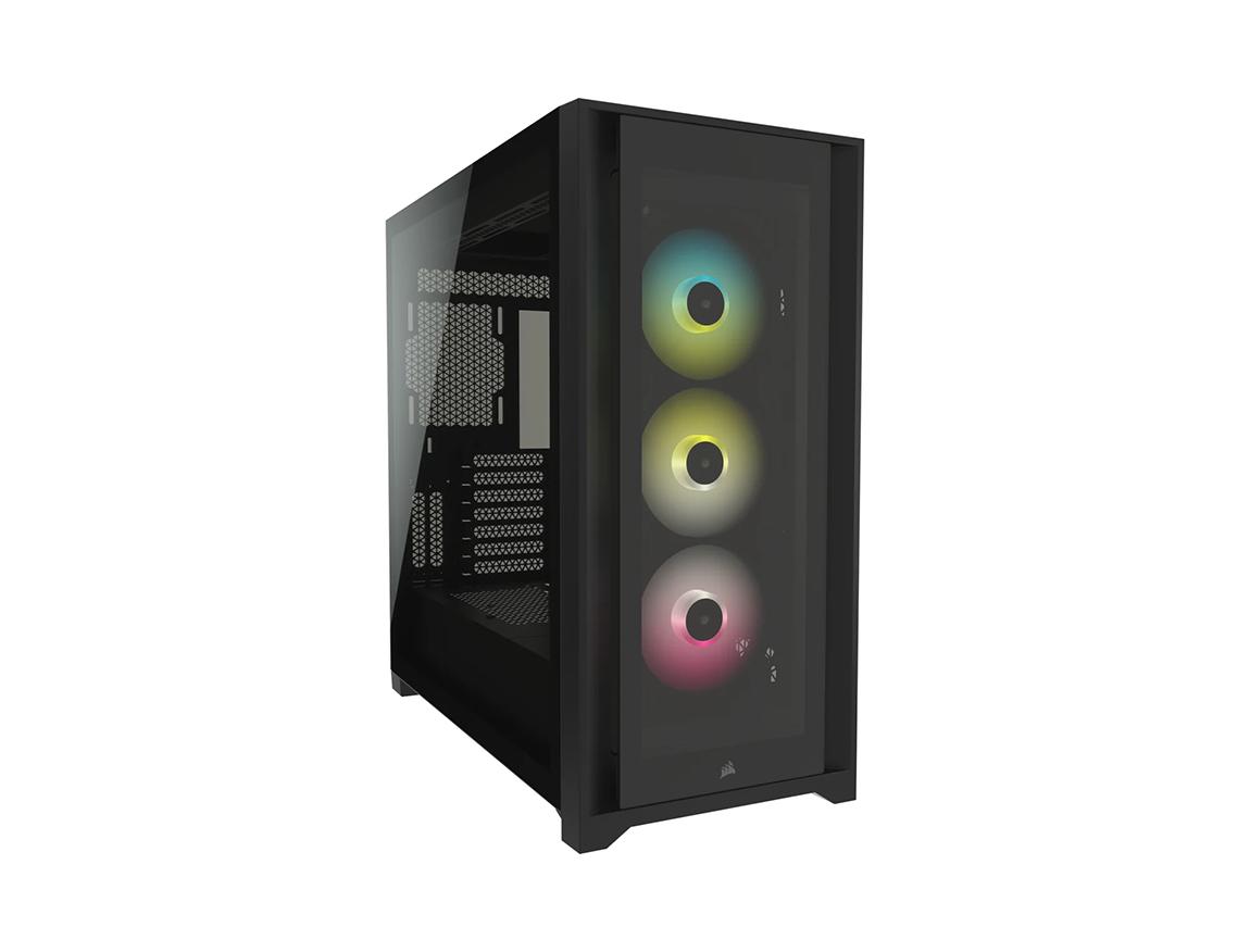 CASE CORSAIR ICUE 5000X RGB ( CC-9011212-WW ) S/ FUENTE   NEGRO   1 PANEL VIDRIO   LED - RGB