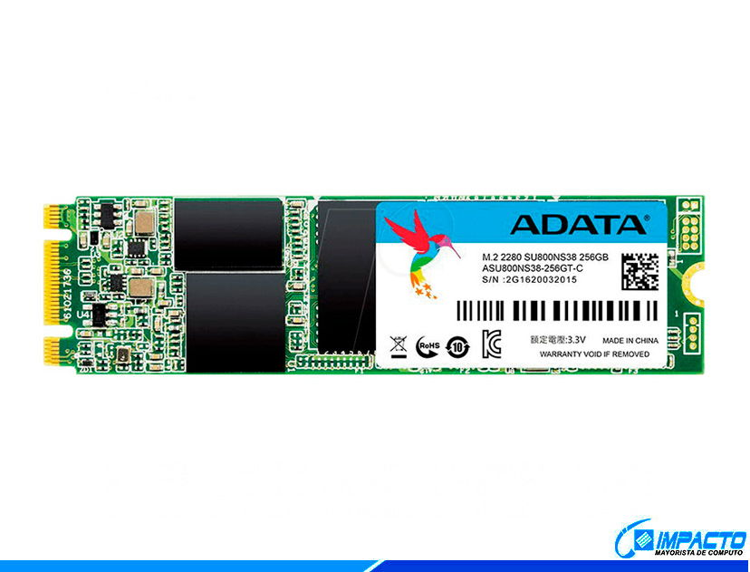 SSD  M.2 SOLIDO ADATA SU800 256GB ( ASU800NS38-256GT-C ) 80MM