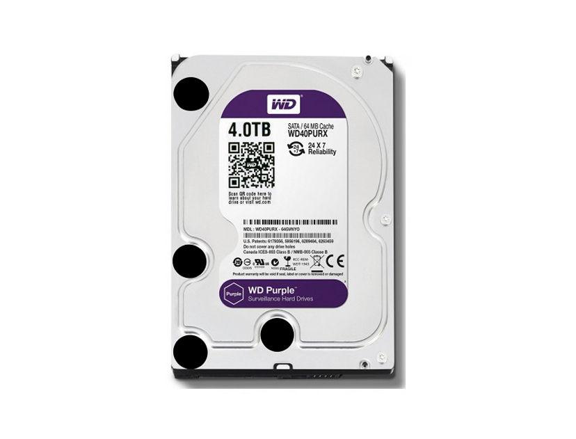 HDD WESTER DIGITAL 4TB ( WD40PURZ ) PURPURA | 64MB | 5400RPM