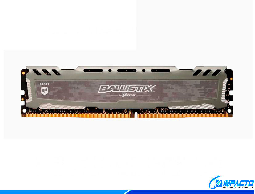 MEM. RAM CRUCIAL BALLISTIX SPORT DDR4 8GB/2400 ( BLS8G4D240FSBK ) GRIS