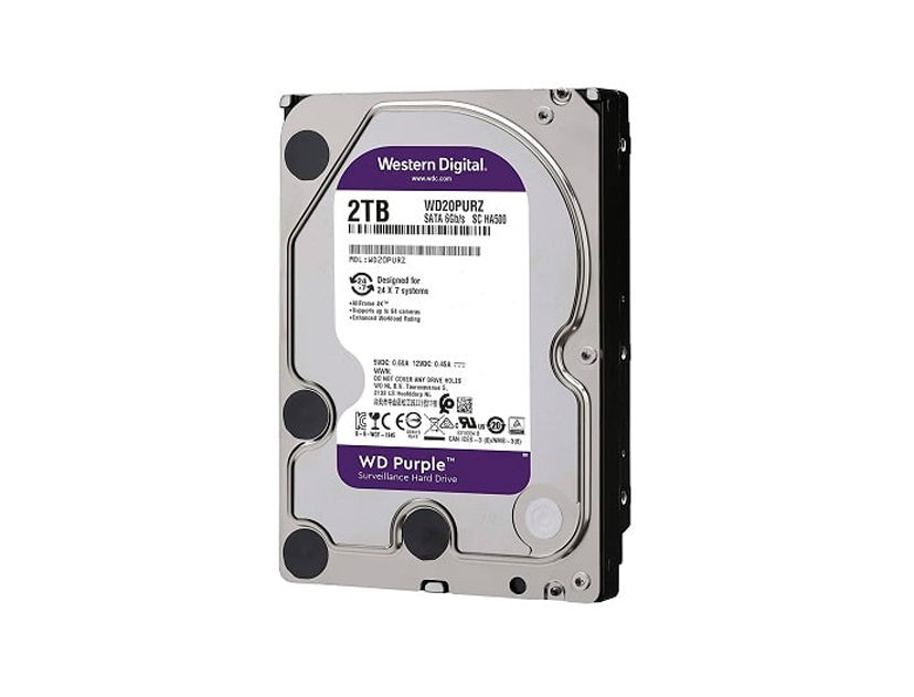 HDD  WESTER DIGITAL 2TB ( WD20PURZ ) PURPURA | 64MB | 5400RPM