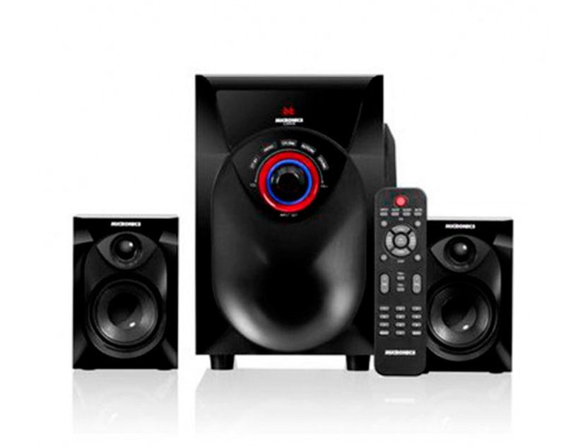 SUBWOOFER MICRONICS LUDWIG ( MIC S6014BT ) 60 WATTS | FM+USB+SD+BT & CONTROL | LED- ROJO