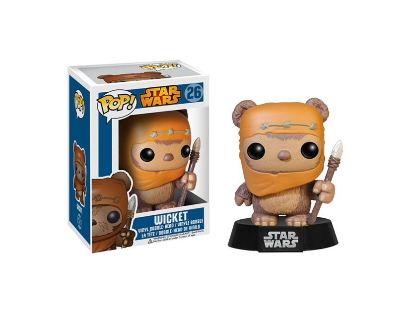 MUÑECO ANIME FUNKO POP STAR WARS WICKET ( 26 )